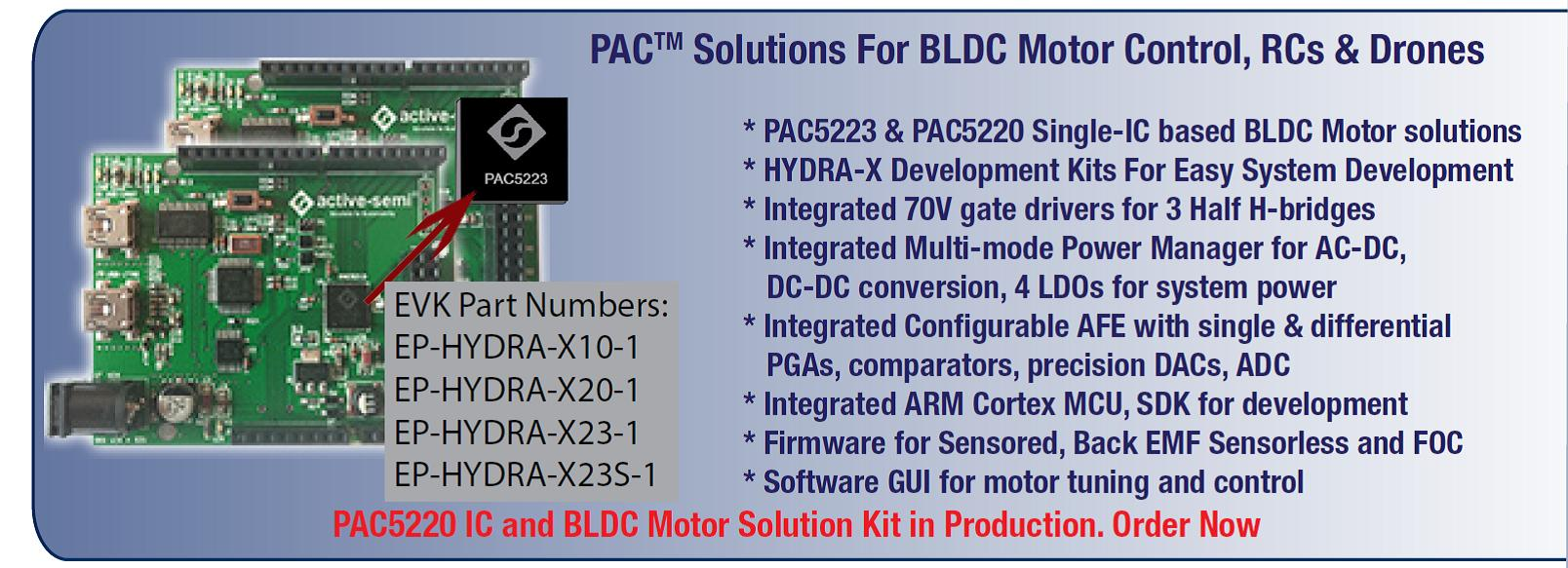 PAC Solutions for BLDC Motor Control
