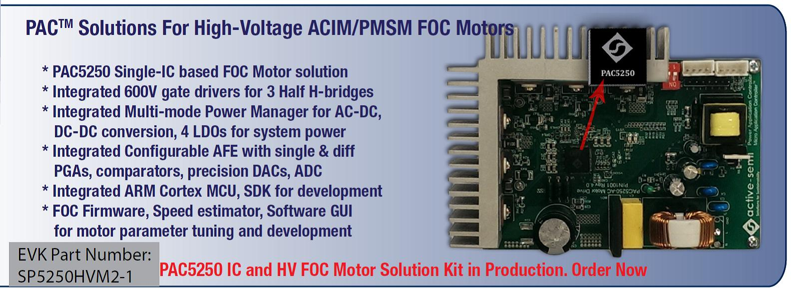 PAC Solutions for High-Voltage ACIM PMSM FOC Motors